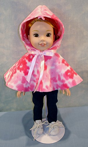 14 Inch Doll Clothes - Pink Camo Polar Fleece Cape handmade by Jane Ellen to fit 14 inch ()
