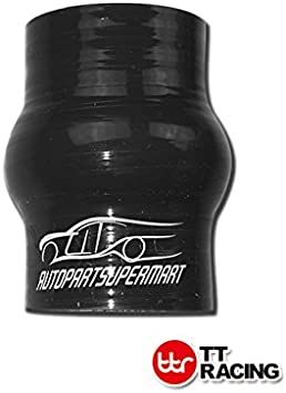 4-ply Silicone Hump Turbo Hose Coupler Black 38mm 1.5 1 1//2