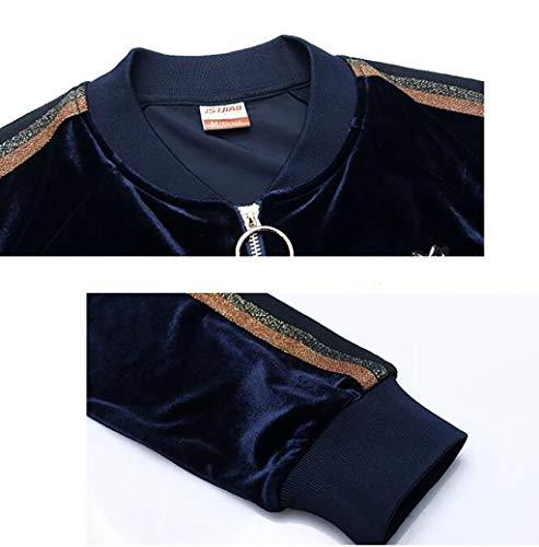 Vestito Casual Donne Abbigliamento colore Maglione Donna Sportivo Da Pezzi A Giacca Xxxl Dimensioni Tre Corsa Autunno Delle A Fafz nqSOA0wxA