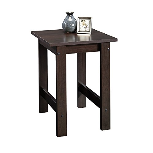 Sauder Beginnings End Table, Cinnamon Cherry (Room Tables Living Square Side)