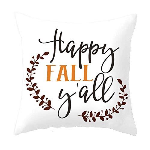Better2019 Pillow Covers Super Soft Pumpkin Throw Pillow Covers Halloween Autumn Fall Home Decor Pillowcase Cushion Cover 18 x 18 Inches (Fall-2) ()