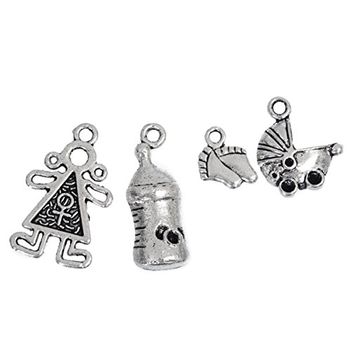 Housweety Mixed Silver Charms Pendants