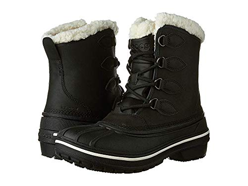 crocs Women's AllCast II Snow Boot, Black, 9 M US (Crocs Boot For Snow)