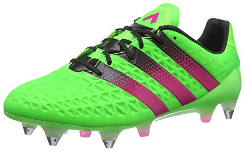 adidas Ace 16.1 SG, Scarpe da Calcio Uomo Verde (Solar Green/Shock Pink/Core Black)