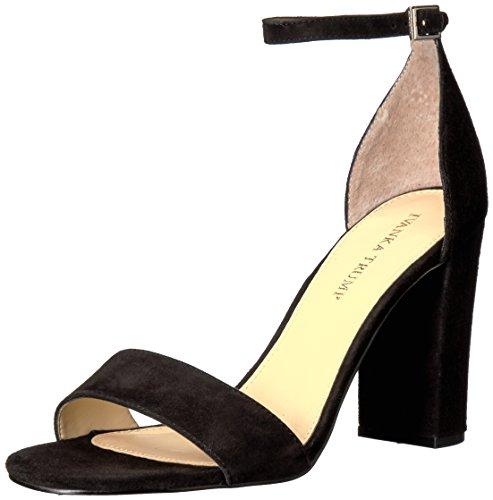 Ivanka Trump Women's Klover Heeled Sandal, Black Suede, 7.5 Medium US ITKLOVER