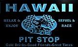 pu2011-b Hawaii Pit Stop Car Racing Bar Beer Neon Light Sign