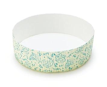Bienvenido a casa marcas t70126bx redonda para horno sartenes, juego de 3, flores, color azul: Amazon.es: Hogar