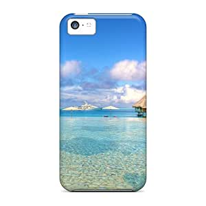 Durable Defender Case For Iphone 5c Tpu Cover(paradise Sea)