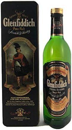 Glenfiddich Special Old Reserve 'Clan Montgomerie' Single Malt Scotch Whisky en una caja de regalo con cuatro accesorios de vino, 1 x 700ml