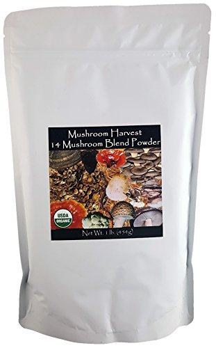 (14 Mushroom Blend Powder CERTIFIED ORGANIC 1lb.)