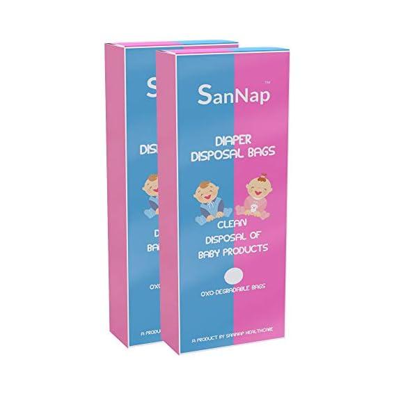 SanNap Baby Diaper Disposal Bags (Pack of 100)