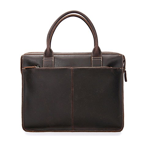 For Casual Layer Suitable Leather Qi Business First Vintage Tote Men's Men's Satchel Notebook Briefcase wqRpxv86
