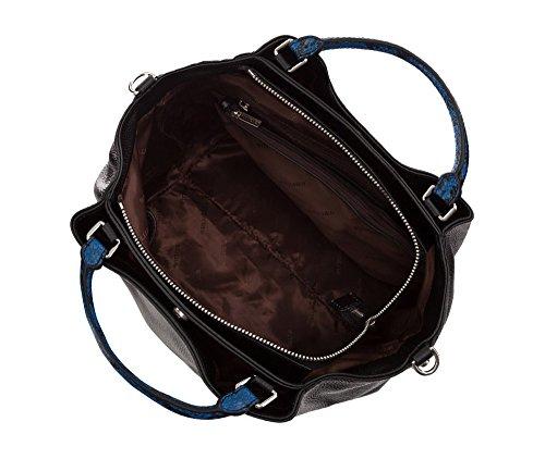 Grano Collezione Eleganza Tamaño 206 Nero Sacchetto Wittchen 4e X Colección Pelle 32 Colore Grana Bolso 29 85 Negro Material Elegante De Color Composizione Elegance Cuero 17 q4STR84