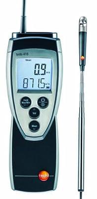 "Testo 416 Digital Mini Vane Anemometer, 0.63"" Head Diameter, 0.6 to 40 m/s Range, 0 to 60° C Temperature"