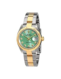 Rolex Lady Datejust Mint Green Diamond Dial Automatic Watch 279173GNDO