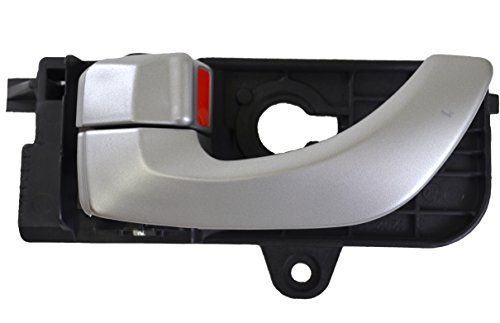 PT Auto Warehouse HY-2307P-FL - Inside Interior Inner Door Handle, Painted Silver - Driver Side Front