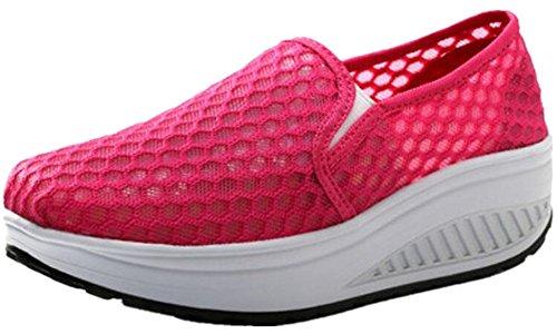 Forme De Femmes Adultes Maillage De Marche Chaussures De Fitness Chaussures De Sport De Mode Rose