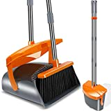Best Broom And Dustpans - Kelamayi Broom and Dustpan Set, Long Handle Stainless Review