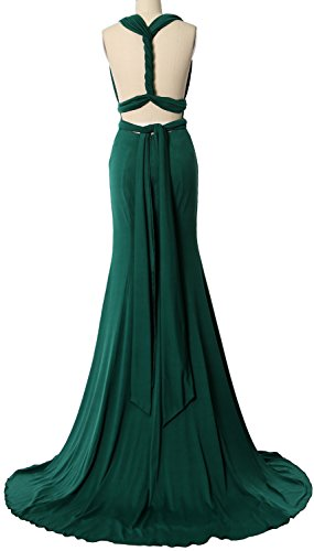 Champagner Wrap Bridesmaid Way MACloth Formal Evening Convertible Dress Multi Gown Maxi qwHfSpv5