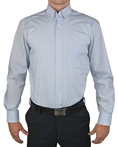 Olymp Hemd Luxor Modern Fit Button Down Kragen - Gitterkaro, Kragenweite:39