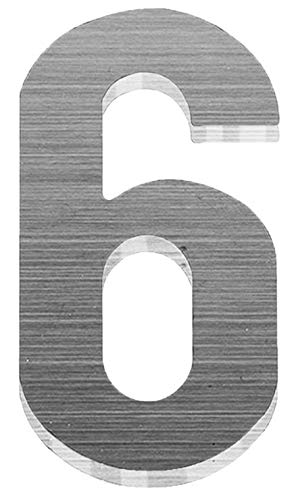 PEELCO Silver Stainless Steel Floating Address Numbers for Houses 3