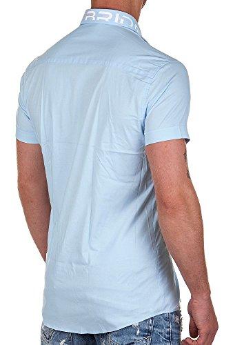 Redbridge by Cipo & Baxx Hemd kurzarm mit Stick light blue XL