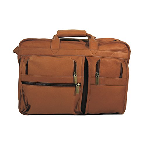 (Andrew Philips Vaqueta Napa Expandable Multi-Function Briefcase in Tan)