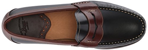 G.H. Bass & Co. Men's Wagner Loafer Black/Dark Brown outlet get authentic SCSm2J