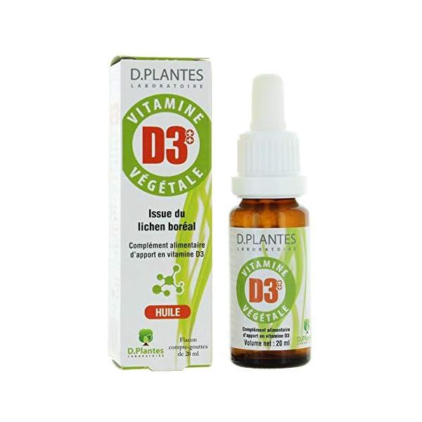 D.Plantes – Vitamine D3++ Végétale 400 UI 20 ml – Lot de 2