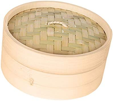 41CqO PySIL. AC LOVIVER 2 Pack of Food Steamer with Lid, 7-Inch, Natural Bamboo    Description: - Authentic asian cooking: create healthy chinese cuisine at home.