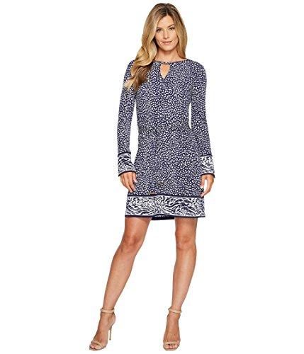 告白より平らな火山[マイケル マイケルコース] MICHAEL Michael Kors レディース Cheetah Border Dress ドレス True Navy XS [並行輸入品]