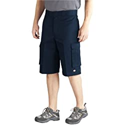 Dickies Men's 13 Inch Loose Fit Twill Cargo Short, Dark Navy, 42
