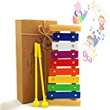 JRD&BS WINL Xylophone Kids,The First Birthday Gift Kids 1-3 Year Old Girl,Boys,Musical Kid Toy Kids 4-8 Year Old Boys Gift Two Child-Safe Mallets 2-6 Year Old Making Fun Music