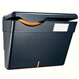 Officemate Security Wall File with Cover (HIPAA) Letter/A4 Size, 13.25 x 4 .75 x 9.75 Inches, Recycled, Black (21473)