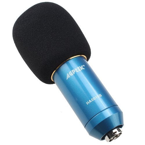AGPtek Blue 1 Vocal Sound Studio Recording Cardioid Condenser Microphone Mic Dynamic +Shock Mount Package (This item should function with indenpendent sound card) by AGPTEK