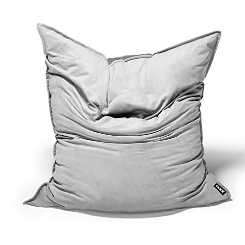Jaxx Bean Bags Saxx Bean Bag Floor Pillow, 3.5-Feet, Velvet Twill, Slate by Jaxx Bean Bags
