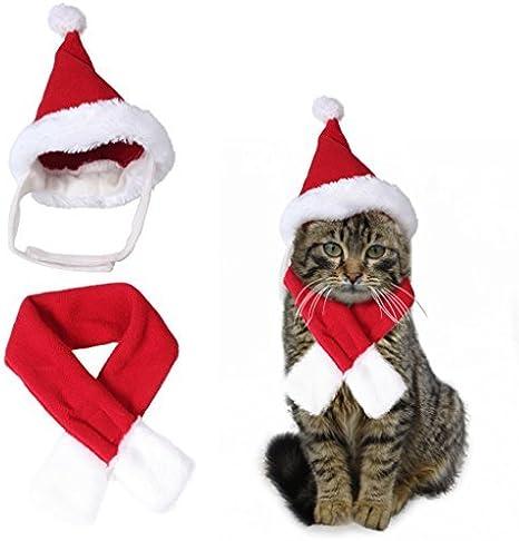 Traje de disfraz de Navidad de Santa Hat & Scarf Xmas rojo Viste ...