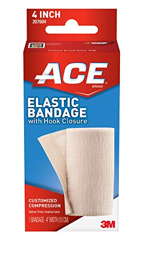 Bandage Elastic Velcro Ace - ACE Elastic Bandage with Hook Closure, 4 Inches Width (Pack of 2)