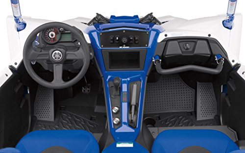 STV Motorsports Custom Aluminum Black Upper Dash Panel for 2016-2018 Yamaha YXZ1000R with 4 Free Laser Switches and USB Charger by STVMotorsports (Image #2)