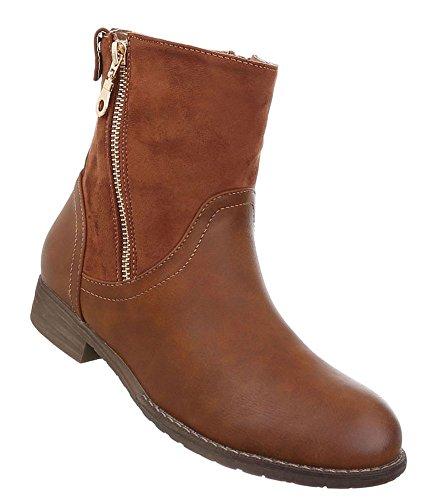 Damen Schuhe Stiefeletten Boots Modell Nr.2 Camel