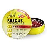 Bach Rescue Remedy Natural Stress Relief Pastilles Cranberry Flavor 1.7 oz