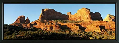 Easy Art Prints Panoramic Images's 'Mitten Ridge nr Sedona AZ' Premium Framed Canvas Art - 24