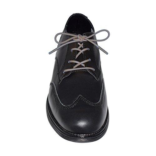 My Shoe Laces Waxed Cotton Round Dress Shoe Oxford Laces 1/8 Shoelaces (Dk. Gray 24) ()