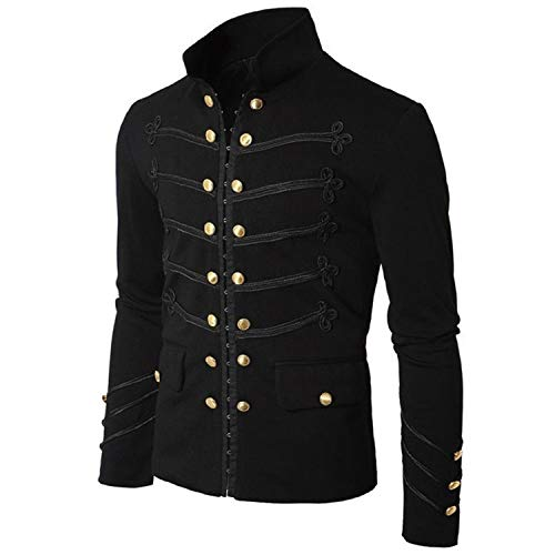 Casual Men Outerwear Plus Size Gothic Military Parade