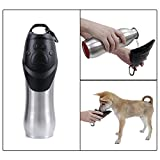 PAWZ Road Insulated Water Bottle for Dog Cats,25-Ounce - Stainless Water Bowls Ideal for Walking,Camping,Travelling,Adventure and Outdoor Sports