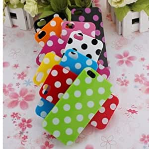 Polka Dots TPU Gel Soft Case Cover Skin For Apple iPhone 5 5G --- Design:pink+white dot