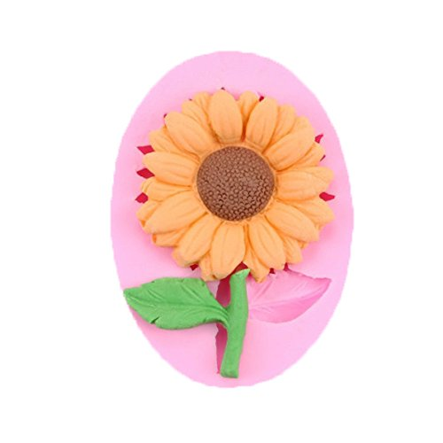 SPHTOEO Silicone Sunflower Mold Cake Decorating Chocolate Sugar Craft Mould (Leaf)