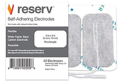 Amazon.com: Resev Electrodos reutilizables y autoadhesivos ...