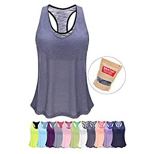 Women Tank Top with Built in Bra, Lightweight Yoga Camisole for Workout Gym Fitness – Eco-Friendly Packaging Design
