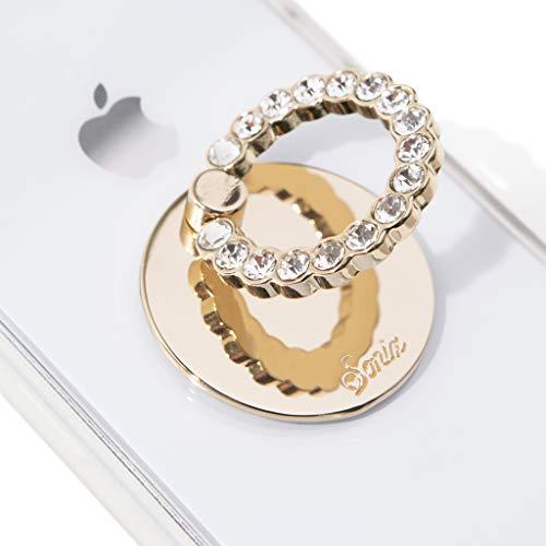 (Sonix Embellished Crystal Rhinestone Phone Ring - Clear )
